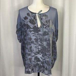 Johnny Was 4 Love and Liberty Velvet Pattern Top